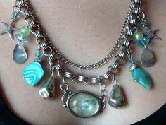Mermaid boho beach mother of pearl magical surf by KimsKreationsNC, $32.00