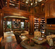 Home-Bibliothek mit Fenster Seat-23-1 Kindesign