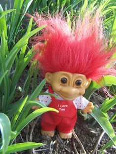 Russ Troll Doll Little Red I Love You