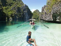 "Beautiful Lagoon - Palawan, Philippines. ""Half the fun of the travel is the esthetic of lostness."" ~ Ray Bradbury"