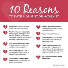 10 reasons to date dental hygienist