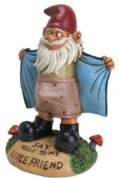 Big Mouth Toys Perverted Little Garden Gnome Yard Statue Outdoor Lawn Figurine Funny Garden Gnomes, Gnome Garden, Lawn And Garden, Garden Art, Funny Gnomes, Fairies Garden, Big Garden, Glass Garden, Dream Garden