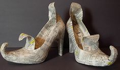 Alter old shoes to make Witch Shoes, paint and decorate them however you choose! Great site with several versions!