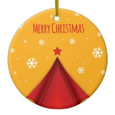 Stylish Christmas design in red and yellow Ornaments