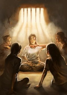 [Celebrating World Falun Dafa Day] Painting: Practicing the Sitting Meditation in Prison
