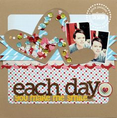 #papercraft #scrapbook #layout.  Each Day  *Pink Paislee* - Scrapbook.com