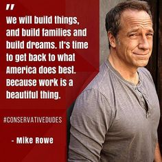 Mike Rowe ... straight talk.