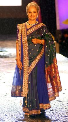 Waheeda Rehman at Manish Malhotra's fashion show #Bollywood #Fashion