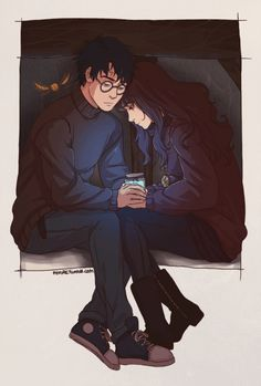 Harry Potter and Hermione in the tent with the golden snitch Harry Potter Hermione, Fanart Harry Potter, Harry Y Ginny, Draco, Blaise Harry Potter, Harry Potter Drawings, Harry Potter Ships, Harry Potter Universal, Harry Potter Fandom
