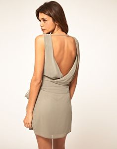 ASOS Tulip Dress With Tie Back