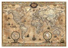 EDUCA: 1000 ANTIQUE WORLD MAP