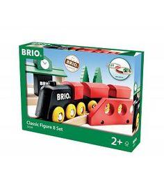 BRIO 33028 - SET Circuito tren de madera en forma de cruce
