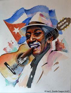 COMPAY SEGUNDO - Buena Vista Social Club - Cuba Art Pics, Art Pictures, Havana Bar, Cuban Culture, Cigar Bar, Hypebeast Wallpaper, Social Club, Puerto Ricans, World Music