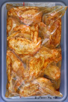 Marinating Moroccan Chicken Wings