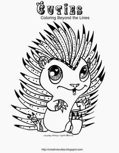 cutie coloring pages | Hedgehog Cutie coloring page