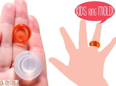 Kids Bubble Ring Clear Silicone Mold-Mold to makle Kids Resin rings