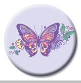2 1/4 inch Butterfly Button by mysticdragonss on Etsy, $1.50