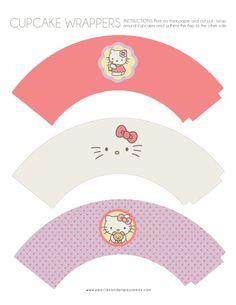 Wraps cupcakes Hello Kitty