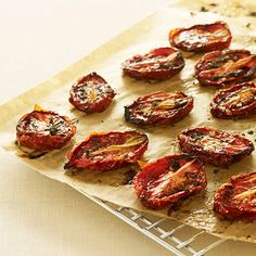 Use oven-dried tomatoes to brighten up spreads, pasta sauces, pizza toppings, and more.