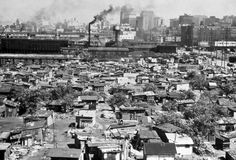 """A """"Hooverville"""" was the popular name for shanty towns built by homeless people during the Great Depression. They were named after Herbert Hoover, who was President of the United States during the onset of the Depression and widely blamed for it. The term was coined by Charles Michelson, publicity chief of the Democratic National Committee."""