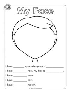 Face Parts Esl Worksheet – Free Worksheets Samples English Activities For Kids, Learning English For Kids, English Worksheets For Kids, English Lessons For Kids, Kids English, Esl Lessons, Preschool Worksheets, Teaching English, Learn English