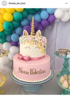 Roquefort mini cakes, smoked walnuts and bacon - Clean Eating Snacks Unicorn Birthday Parties, Unicorn Party, Birthday Cake, Mini Cakes, Cupcake Cakes, Ideas Decoracion Cumpleaños, Cupcakes Decorados, Girl Birthday Decorations, Unicorn Baby Shower