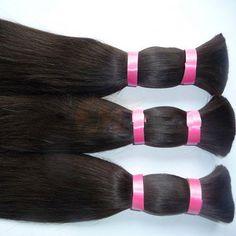 100% Peruvian Human Hair Bulk Natural Unprocessed Straight Hair Raw Material | Wholesale Hair Extension Factory