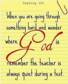 Another favourite quote of mine. I really do love a good quote! I hope to teach in the Catholic school system one day, and I think this is a great quote that represents our faith. Faith is not always easy, but we must remember that God is always there for us, even when we might not think He is.