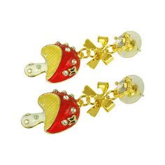 Women's Kate Marie Fashion Earrings Mushroom 1 - Gold/Red/White Stud... ($33) ❤ liked on Polyvore featuring jewelry, earrings, yellow gold stud earrings, red stud earrings, gold earrings jewelry, gold stud earrings and white gold earrings