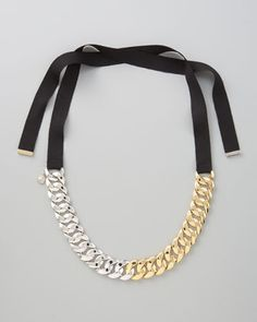 Pretty Turnlock Necklace by Marc By Marc Jacobs at Neiman Marcus.