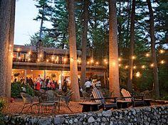 A Lakeside Lobster Bake at Migis Lodge in South Casco, Maine Camp Wedding, Lodge Wedding, Wedding Prep, Wedding Planning, Tent Platform, Cocktails And Canapes, Lobster Bake, Nyc Wedding Venues, Wedding Lighting