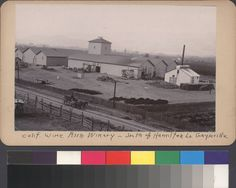 Calif. Wine Assn. Winery Geyserville, south of Hamilton Ln. Geyserville. Creator/Contributor: Price, Andrew, b.1843. Photo circa 1888