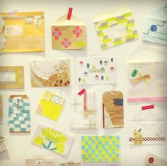 envelopes decorated with mt tape