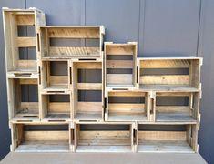 ideas crate bookcase diy bookshelves for 2019 Wooden Pallet Furniture, Wood Pallets, Diy Furniture, Wooden Crates, Furniture Dolly, Retro Furniture, Pallet Wood, Palette Furniture, Steel Furniture