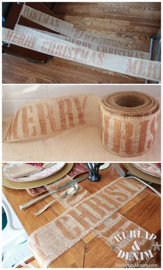 """Really digging the burlap- I've written about a few of my favorite burlap ideas before, but there are just so many! I can't believe how many things you can do with it. I feel like the kid in the book """"Hatchet"""" (I read it like 20 years ago) but instead …"""