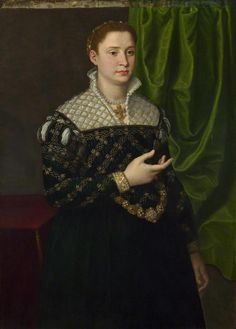 Portrait of a Lady probably 1555-65, Italian, Florentine. The sitter has not been identified. This work was formerly attributed to Bronzino and to Alessandro Allori; neither of which seems acceptable. The costume has been said to accord best with a dating in the late 1550s or early 1560s.