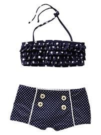 toddler girl swimsuit polka dots shorts - Google Search