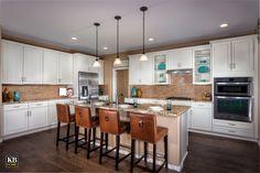 The Ridge at Trailside Point, a KB Home Community in Laveen, Arizona (Phoenix) White Kitchen Cabinets, Kitchen Dining, Dining Rooms, Arizona, Kb Homes, Phoenix Homes, Kitchen Models, New Homes For Sale, Planer