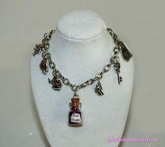 Alice in Wonderland Mad Magic Charm Bracelet by LifeistheBubbles, $19.00