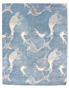 Nishikigoi rug - based on an Aesthetic Movement design by Candace Wallace - love this!