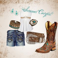 """""""summer cowgirl"""" by cowgirl-44 on Polyvore"""