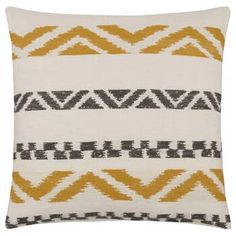 """Roma Decorative Pillow 20"""" x 20"""" Living Room Redo, Home Living Room, Bouclair, Photo Buttons, Breath Of Fresh Air, Fall Collections, Decoration, Things To Buy, Ikat"""