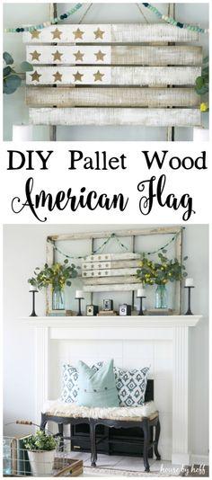 DIY Pallet Wood American Flag - House by Hoff