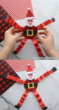 Easy Crafts For Kids, Craft Activities For Kids, Toddler Crafts, Crafts To Make, Santa Crafts, Simple Girl, A Classroom, Winter Wonder, Good Friday