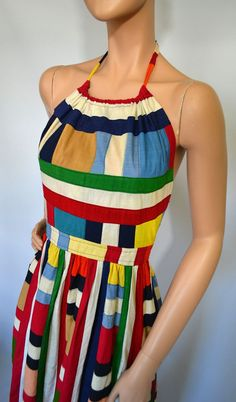 Vintage 70's Barbara Quincy halter dress