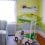 Golf theme boys room.