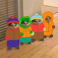 South Park Anime, South Park Fanart, Pop Cat, Kenny South Park, Anime Kitten, South Park Memes, South Park Characters, Cat Cosplay, Cat Icon