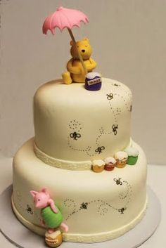 Layers of Love: Winnie the Pooh Shower Cake....LOVE THIS!!!