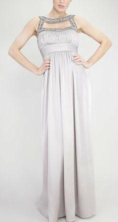 Silver Empire Waist Dress