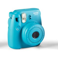 Fujifilm Instax Mini 8 Camera, Tile Blue ❤ liked on Polyvore